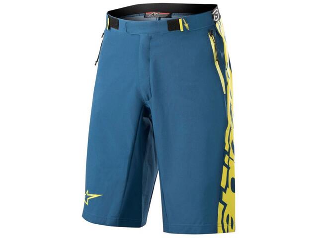 Alpinestars Mesa Shorts Herr poseidon blue/acid yellow